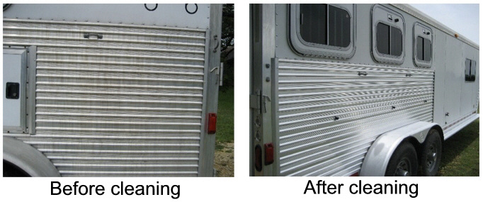 aluminum horse trailer cleaner